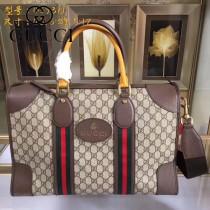 GUCCI-459311  古馳2018潮流時尚新款經典原版皮旅行袋 手提包