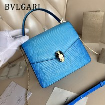 BVLGARI 38329-9 歐洲限量版原單意大利蜥蜴紋小號手提斜挎包