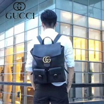 GUCCI-429007  古馳2018潮流時尚新款經典原版皮小牛皮雙肩包
