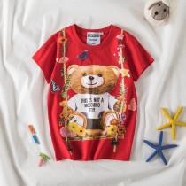 moschino秋千熊男女寶寶兒童短袖T恤