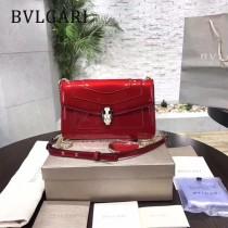 BVLGARI 38102-3 人氣新品女士原單漆皮純銅五金彩色蛇頭扣小號單肩斜跨包