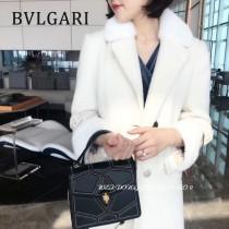 BVLGARI 38330-3 最新衍縫網格設計原單全銅五金大號手提單肩包