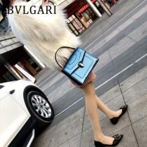 BVLGARI 38330-6 人氣新品女原單漆皮純銅五金大號手提單肩包