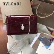 BVLGARI 38102-2 人氣新品女士原單漆皮純銅五金彩色蛇頭扣小號單肩斜跨包