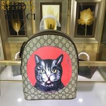 GUCCI-495621  古馳2018時尚潮流新款經典原版皮百搭寵物系列雙肩包