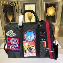 GUCCI-474135-02  古馳2018潮流時尚新款經典原版皮刺繡系列手提包