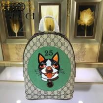 GUCCI-495621-01  古馳2018時尚潮流新款經典原版皮百搭寵物系列雙肩包