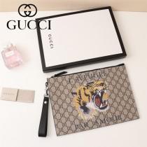 GUCCI-473904-03  古馳2018潮流時尚新款經典原版皮虎頭圖案手包