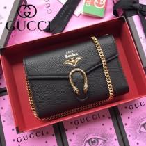 GUCCI-516931 古馳新款原版皮時尚潮流最IN酒神包新款斜背包 手拿包