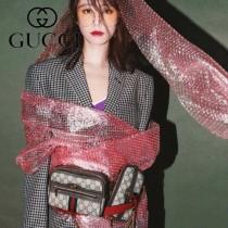 GUCCI-519308 古馳新款時尚全新Ophidia系列原版皮浪漫復古文藝風腰包 胸包