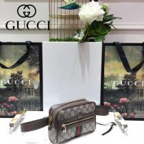 GUCCI-517076-1 古馳新款時尚全新Ophidia系列原版皮浪漫復古文藝風腰包 胸包