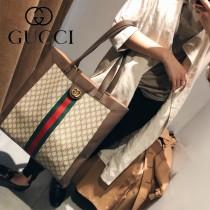 GUCCI-519335 古馳新款時尚新款GG Supreme系列中性超大號購物袋