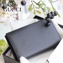 GUCCI-337023 古馳時尚新款原版皮經典休閒百搭中夾錢包 兩折錢包