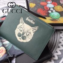 GUCCI-616928-02 古馳時尚新款超萌寵物圖案系列全皮手包 便攜化妝包
