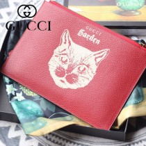 GUCCI-616928-01 古馳時尚新款超萌寵物圖案系列全皮手包 便攜化妝包