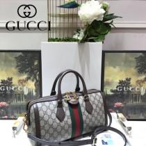 GUCCI-524532 古馳時尚新款全新Ophidia系列復古中號手提包 枕頭包