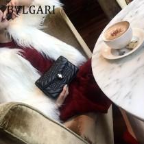 Bvlgari-38102 寶格麗時尚新款原單迷人彩色蛇頭單層單鏈小方包