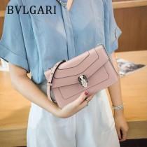 Bvlgari-38102-05 寶格麗時尚新款原單胎牛系列純銅式的五金單鏈小方包