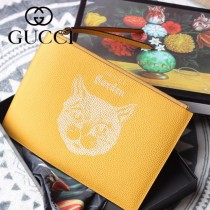 GUCCI-616928-03 古馳時尚新款超萌寵物圖案系列全皮手包 便攜化妝包