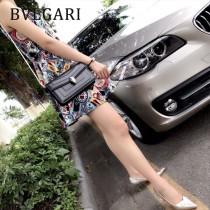 Bvlgari-37044 寶格麗時尚新款細膩柔軟皮質純銅式的五金鏈條蛇頭包