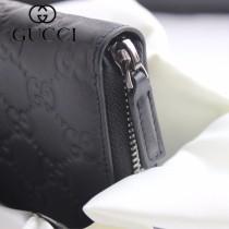 GUCCI-307987 古馳時尚新款原版皮壓花男士經典休閒百搭拉鏈長夾