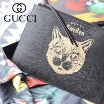 GUCCI-616928 古馳時尚新款超萌寵物圖案系列全皮手包 便攜化妝包