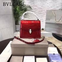 Bvlgari-38329-04 寶格麗時尚新款原單胎牛系列純銅式的五金鏈條蛇頭包