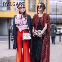 Bvlgari-38329-01 寶格麗時尚新款原單胎牛系列純銅式的五金鏈條蛇頭包