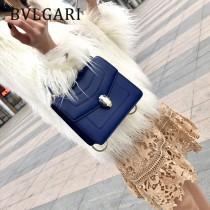 Bvlgari-38329-06 寶格麗新款原單胎牛皮純銅五金彩色蛇頭扣手提單肩包