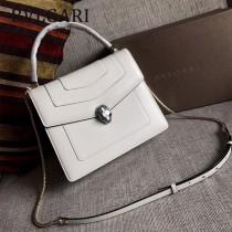 Bvlgari-38320 寶格麗時尚新款原單胎牛系列純銅式的五金鏈條蛇頭包