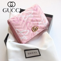 GUCCI-449421 古馳時尚新款原版皮經典休閒百搭涂鸦卡包 零钱包