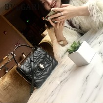 Bvlgari-38329 寶格麗時尚新款原單Scaglie幾何圖案裝飾純銅式的五金鏈條蛇頭包