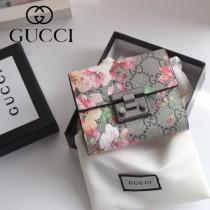 GUCCI-453155-03 古馳時尚新款原版皮經典休閒百搭短夹 卡包 零钱包
