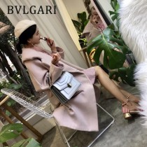 Bvlgari-38329-03 寶格麗時尚新款原單胎牛系列純銅式的五金鏈條蛇頭包