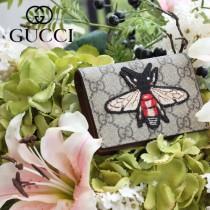 GUCCI-456867-03 古馳時尚新款原版皮經典昆虫系列卡包 零钱包