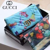 GUCCI-443123-05 古馳時尚新款原版皮經典休閒百搭拉鏈長夾 拉鏈錢包