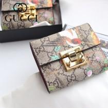GUCCI-453155-01 古馳時尚新款原版皮經典休閒百搭短夹 卡包 零钱包