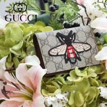 GUCCI-456867-05 古馳時尚新款原版皮經典昆虫系列卡包 零钱包