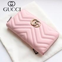 GUCCI-443123-03 古馳時尚新款原版皮經典休閒百搭拉鏈長夾 拉鏈錢包