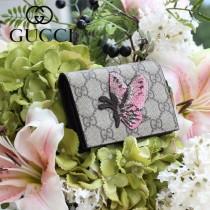 GUCCI-456867 古馳時尚新款原版皮經典昆虫系列卡包 零钱包