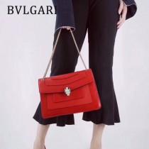 Bvlgari-35362-2 寶格麗時尚新款左蕭岸同款純銅式的五金鏈條蛇頭包