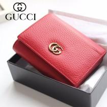 GUCCI-474746 古馳時尚新款原版皮經典時尚百搭卡包 三折短夾