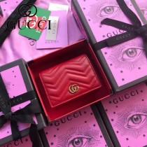 GUCCI-466492-018 古馳時尚新款原版皮經典時尚百搭卡包 短夾