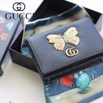 GUCCI-499361-01 古馳時尚新款原版皮經典時尚兩折卡包 兩折短夾