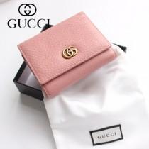 GUCCI-474746-01 古馳時尚新款原版皮經典時尚百搭卡包 三折短夾