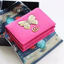 GUCCI-499361 古馳時尚新款原版皮經典時尚兩折卡包 兩折短夾