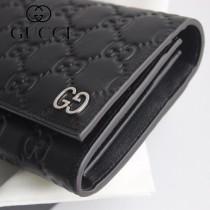 GUCCI-481721 古馳時尚新款原版皮壓花經典時尚百搭錢包 兩折長夾
