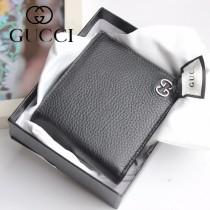 GUCCI-473922 古馳時尚新款原版皮經典時尚百搭卡包 兩折短夾