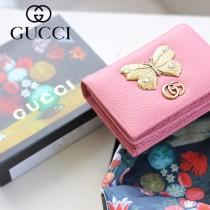 GUCCI-499361-02 古馳時尚新款原版皮經典時尚兩折卡包 兩折短夾