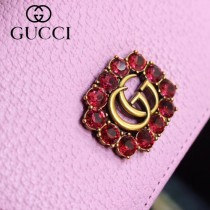 GUCCI-499783-05 古馳時尚新款原版皮時尚經典復古黃銅五金LOGO卡包 零錢包